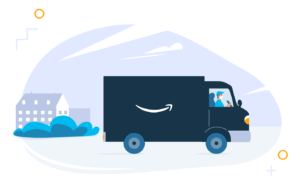 Image of Amazon delivery van