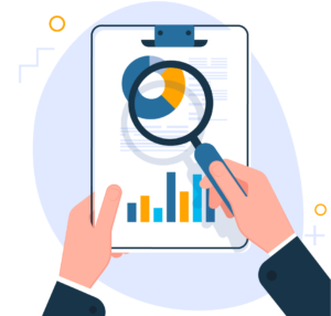 Image of Business report concept, businessman researching