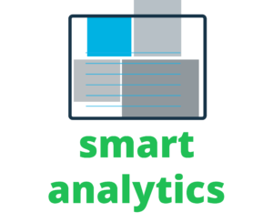 Illustration of boxes with the words Smart Analytics